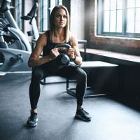 Crossfit kettlebell workout